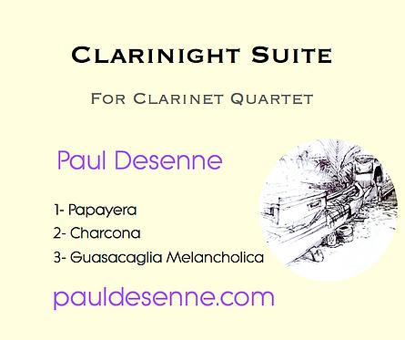 Clarinight Suite - Clarinet Quartet