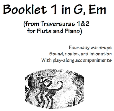Booklets by Key - from Traversuras I-II for Flute&Piano