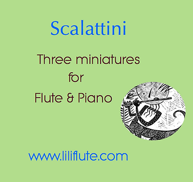 Scalattini - Three miniatures for Flute & Piano