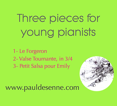 Three pieces for young pianists