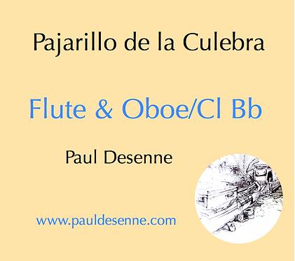 Pajarillo de la Culebra - Flute & Oboe or Flute & Clarinet Bb