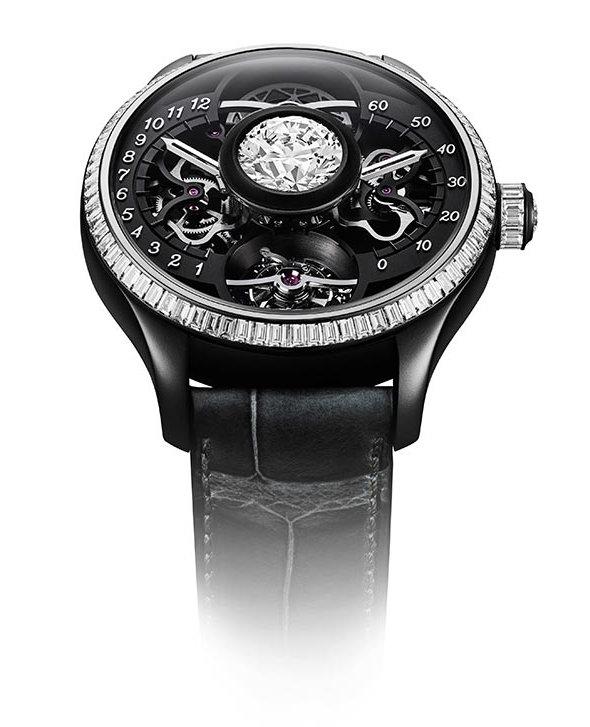 Garde temps De Tournemire à tourbillon et diamant central