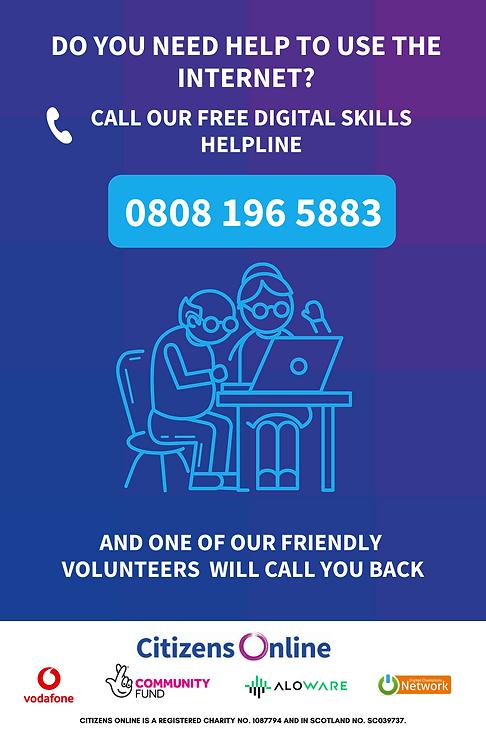 Digital Skills Helpline Poster