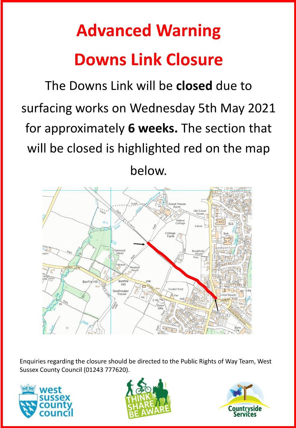 Downs Link Closure