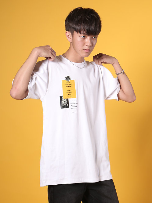 Patches Spade Short Sleeve (White)