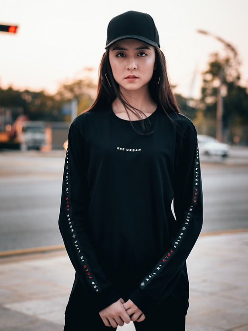 Never Fold Tape Long Sleeve (Black)