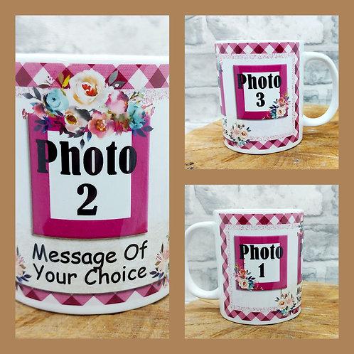 3 Photo Message Mug