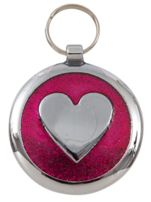 Shimmer Heart Tag Free Engraving
