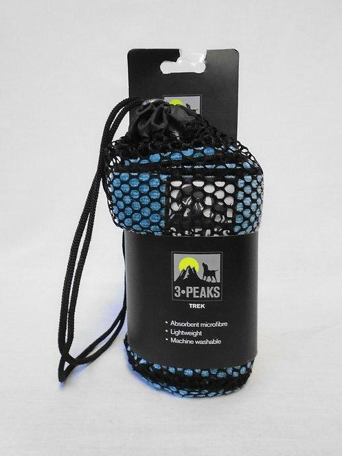Blue Microfibre Travel Dog Towel 3 Peaks