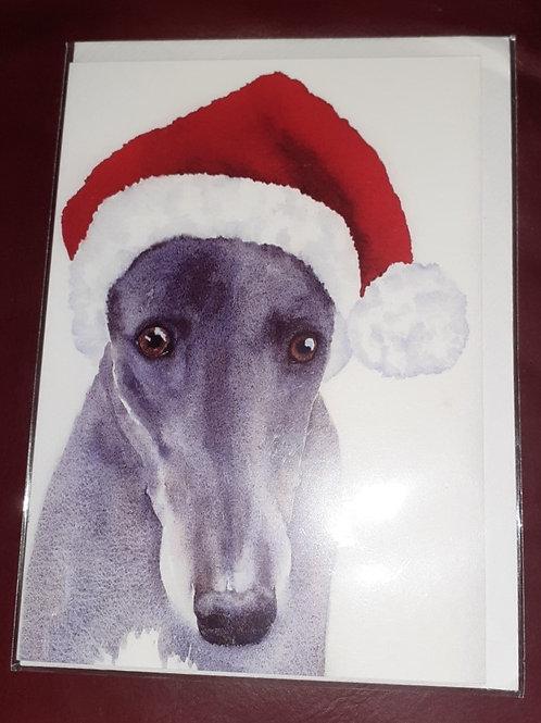 Single Hound Christmas Card