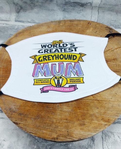 Worlds Greatest Mum Face Mask