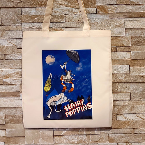 Hairy Poppins tote Bag