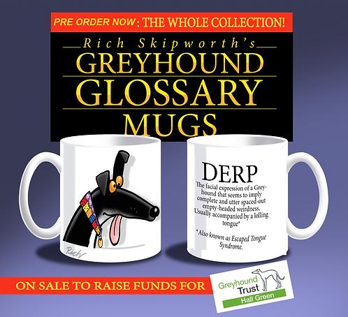 Greyhound Glossary Mugs