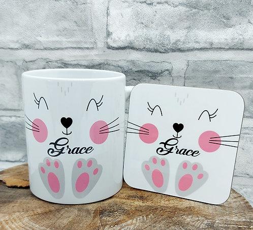 Named Mug and Coaster