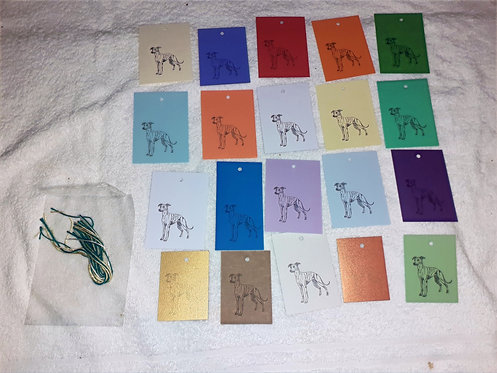 20 Hand Made Greyhound Gift Tags
