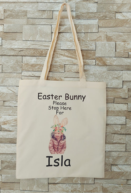 Easter Name and Photo Tote Bag