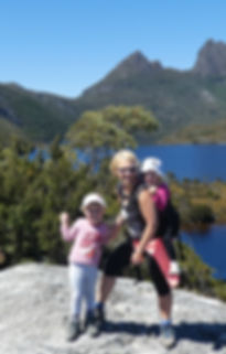 Hiking around Dove lake with Cradle Moun
