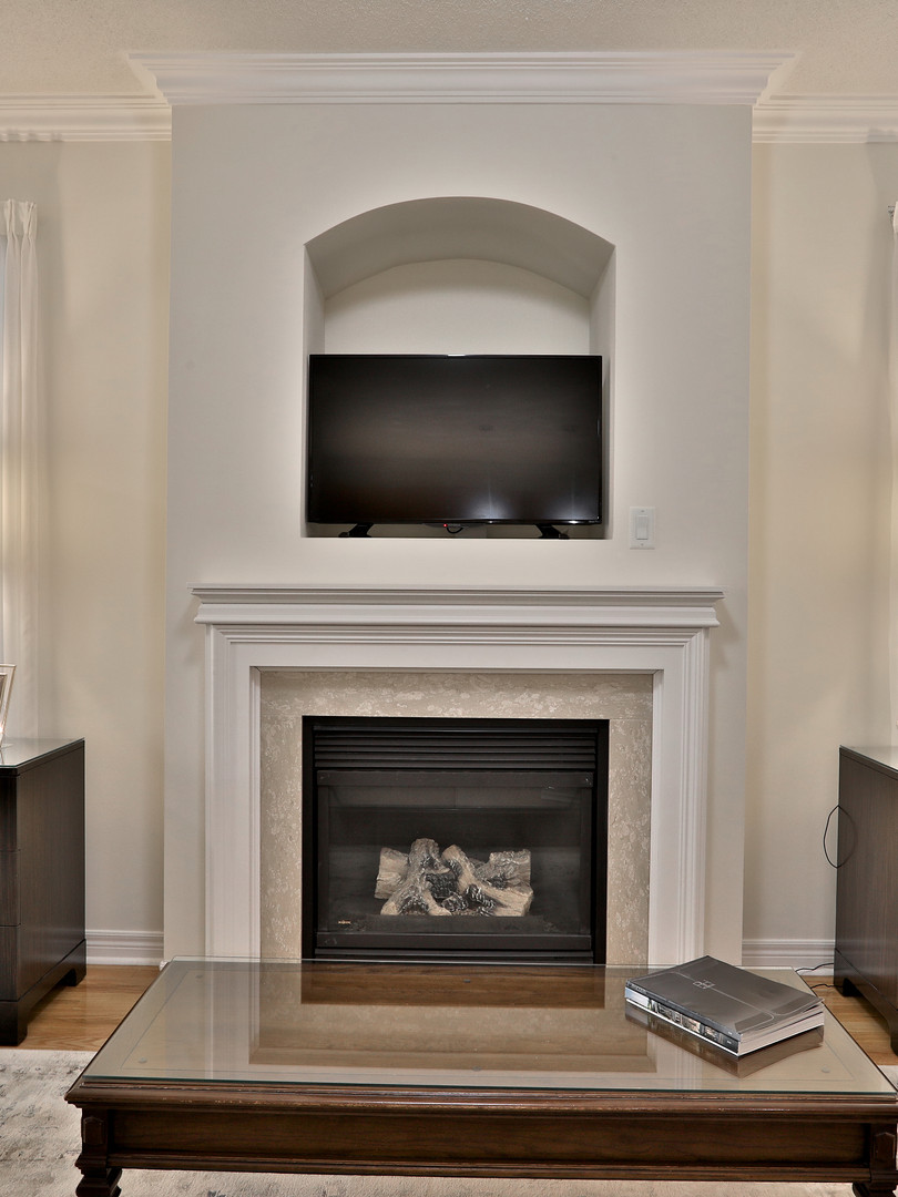 Fireplace with Mantle and Niche