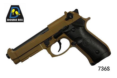736S-M92-全金属汽动枪(沙色)