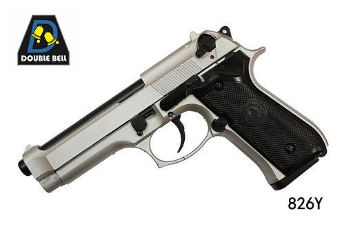 826Y-M92-CO2全金属汽动枪银色(全仿KSC结构)