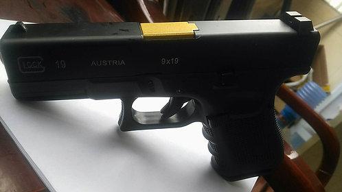 772B-GLOCK 19-全金属汽动枪(黑滑金管)