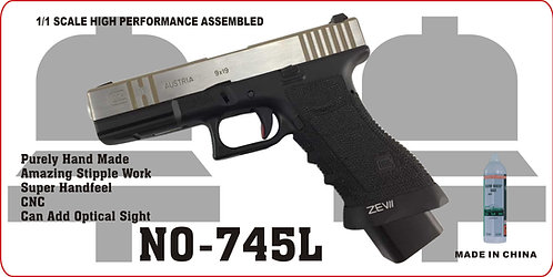 745L-GLOCK 17-CNC拉丝金属汽动枪(猛将)