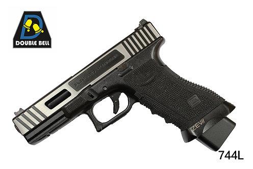 744L-GLOCK 17-CNC拉丝金属汽动枪(猛将)