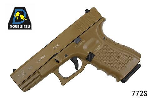 772S-GLOCK 19-全金属汽动枪(沙色)