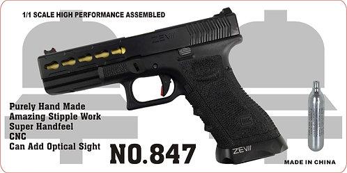 847-GLOCK 17-CNC金属汽动枪(CO2)