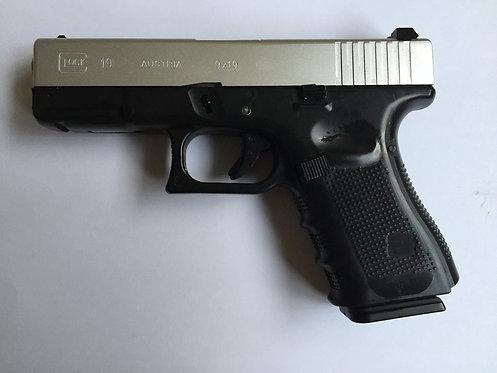 772D-GLOCK 19-全金属汽动枪(银滑金管)