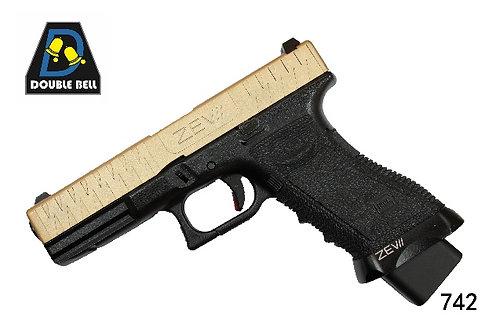 742-GLOCK 17-CNC金属汽动枪(猛将)