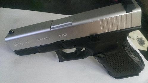 772C-GLOCK 19-全金属汽动枪(银滑银管)