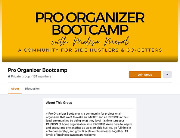 pro organizer bootcamp facebook group.png