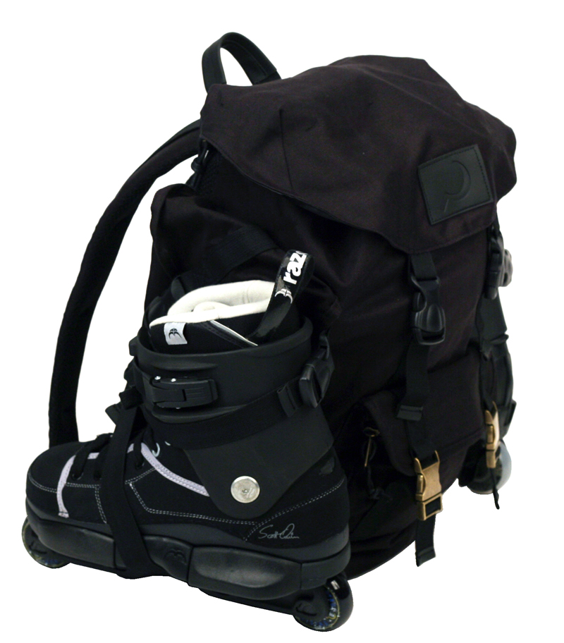 GC Canvas Backpack with skateholder