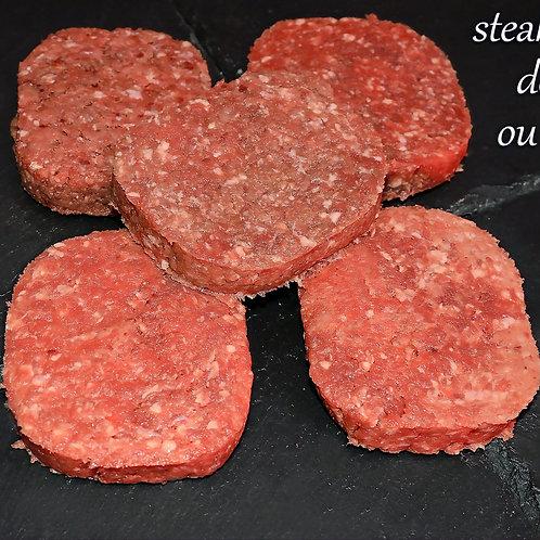Steaks hachés de bœuf