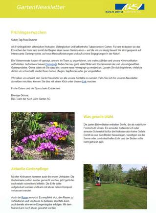 GartenNewsletter - Frühlingserwachen