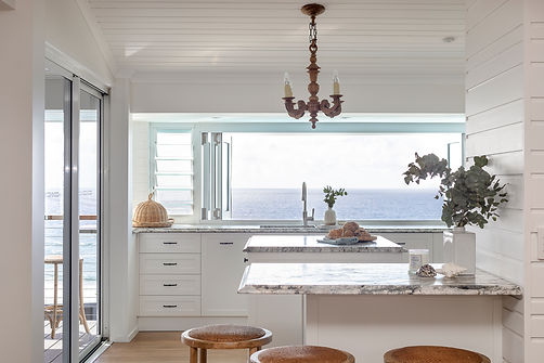 Ocean view kitchen