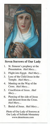 Seven Sorrows & Promises of Our Lady