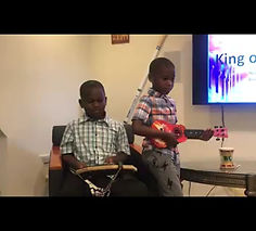 "Starring MACRC's Children's Worship Kids: Devin Tolliver, Xavier and Alex Brown, Norah Anderson, Samuel and Charissa Followed by Director of Worship Ron Foster performing ""Covered by His Blood."""