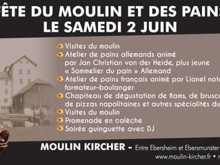 Samedi 2 juin, fête du moulin et des pains.
