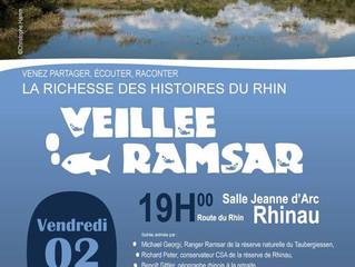 Veillée RAMSAR le 2 février 2018 à Rhinau