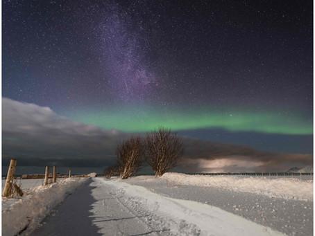 Aurora Borealis and Milky Way
