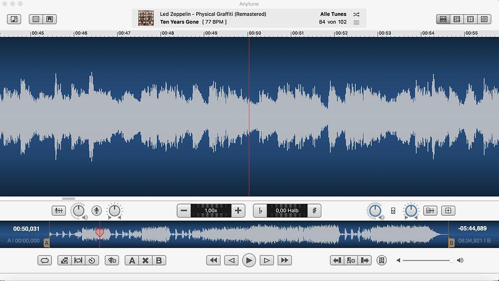 gitarrebegreifen- Apps für Gitarristen - Anytune