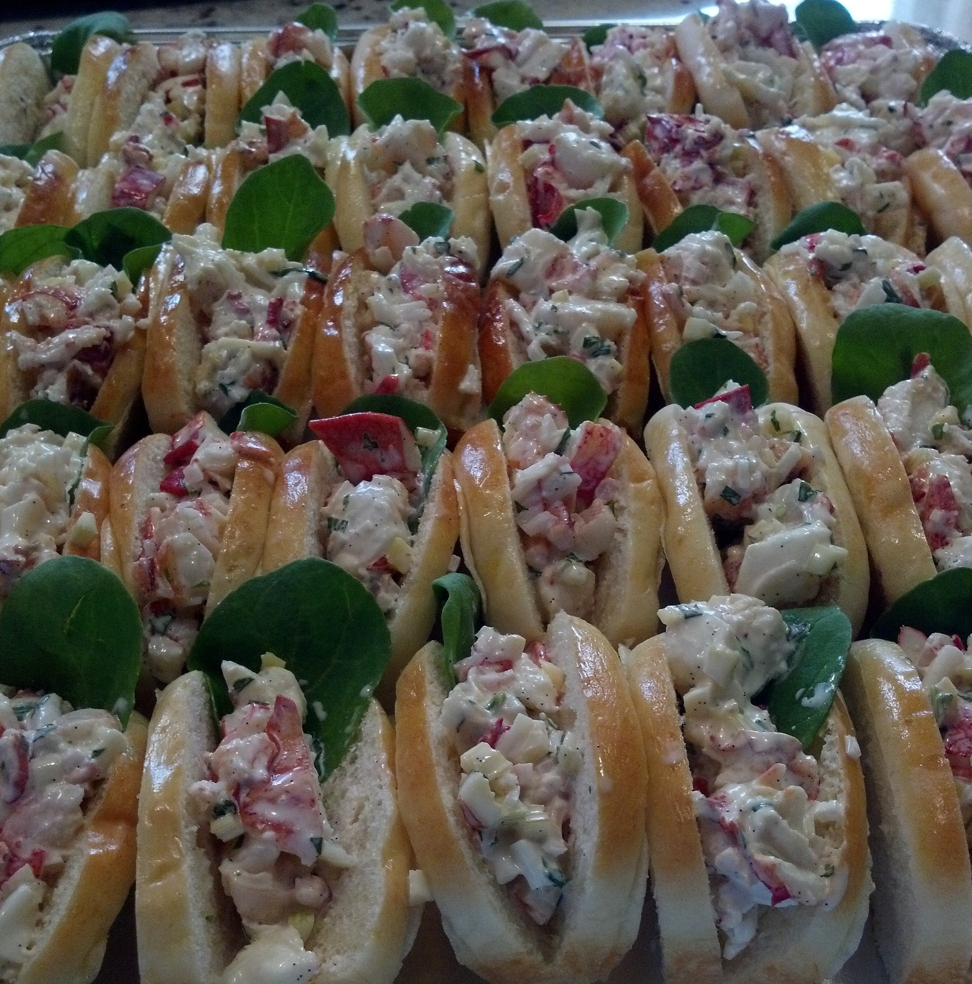 miniature lobster rolls
