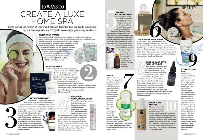 Ten Ways To Create A Luxe Home Spa