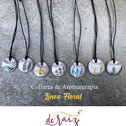 Collar de Aromaterapia  -Linea Floral ( Ceramica )
