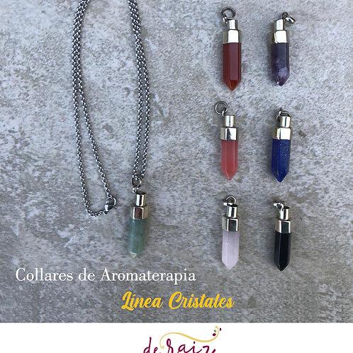 Collar de Aromaterapia  -Linea Cristales (Alpaca/piedras)
