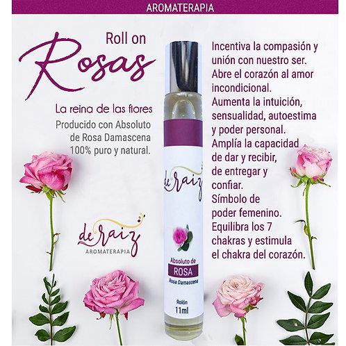 Absoluto de Rosas -- Roll on   ( Rosa Damascena)