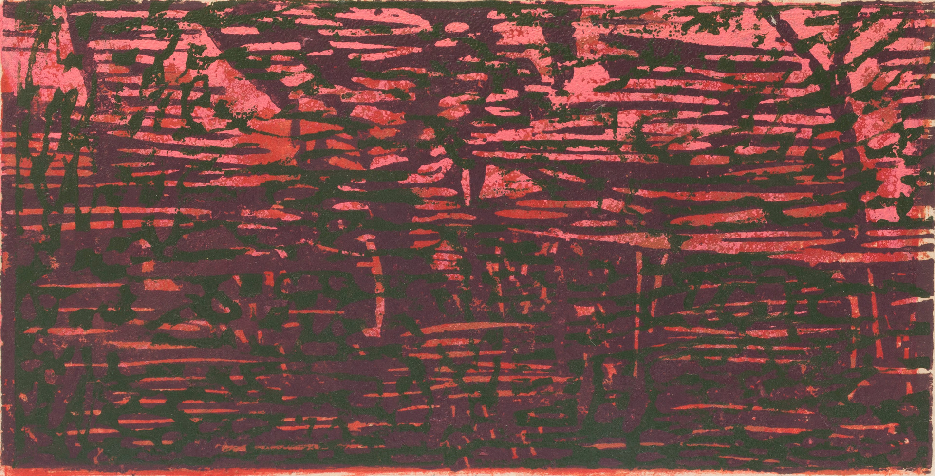 Untitled - red, pink, purple, and black texture (edition 8-10)