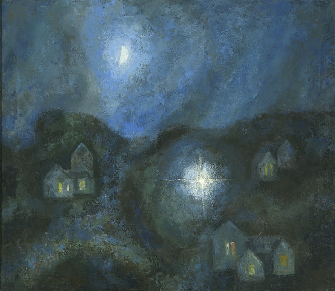 Moon and Street Light